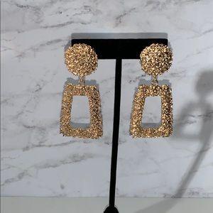 Gold Geometric Statement Earrings